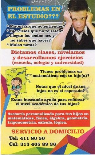 clases pres/virtuales matemáticas, cálculo, álgebra, trigo