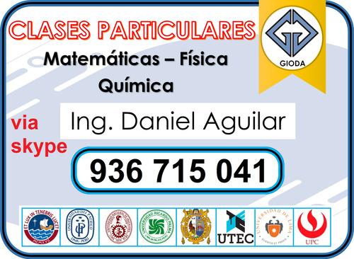 clases  via skype  matematica fisica quimica (936-715-041)