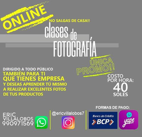 clases virtuales de fotografía s/40 x hora