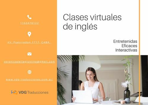 clases virtuales de inglés - talleres de conversación