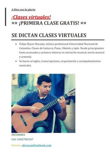 ¡clases virtuales de música!