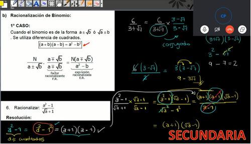 clases virtuales skype o zoom, matemática, física y química.