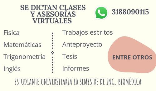 clases y asesorías virtuales