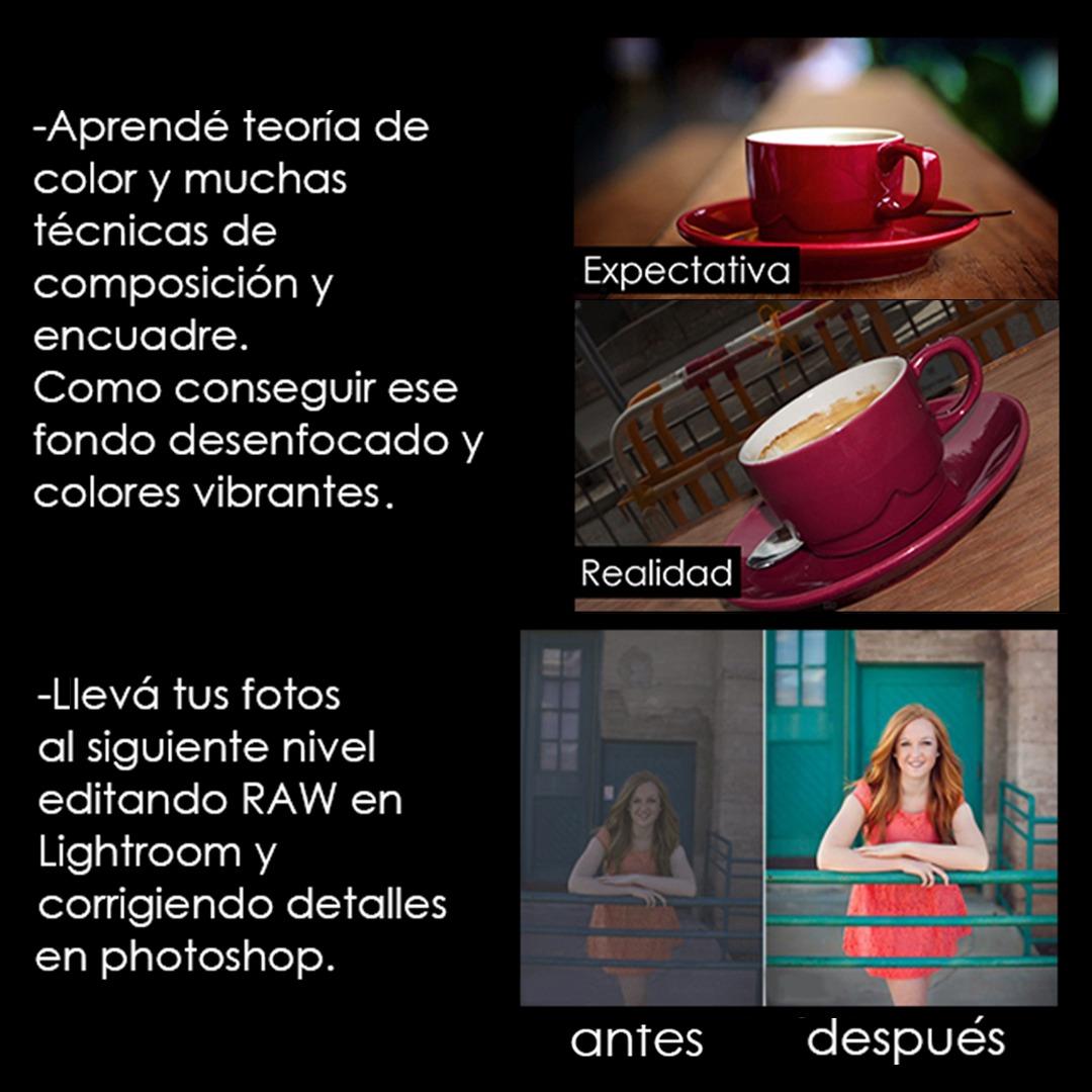 Clases Y Curso De Fotografía A Domicilio - $ 500 en Mercado Libre
