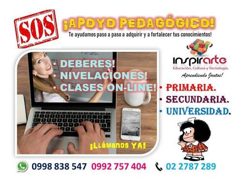 clases y nivelaciones on-line!