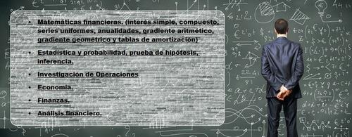 clases y trabajos matemática financiera, estadística y más