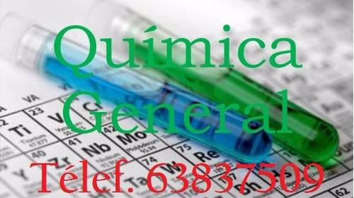clases y tutorías de química.