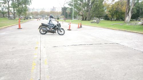 clases,curso manejo motos,alquiler para examen aca palermo