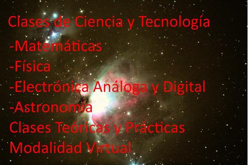 clases,física,matemática,electricidad,electrónica,astronomía