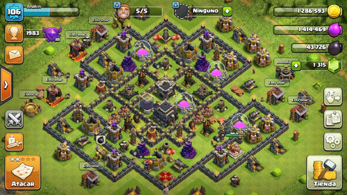 clash of clans ayuntamiento 9 full