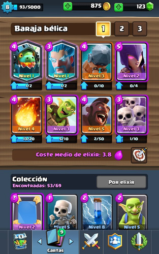 clash royale con 5legendarias arena 8