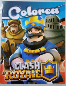 Clash Royale Paq 6 Libros De Iluminar Colorear Fiesta