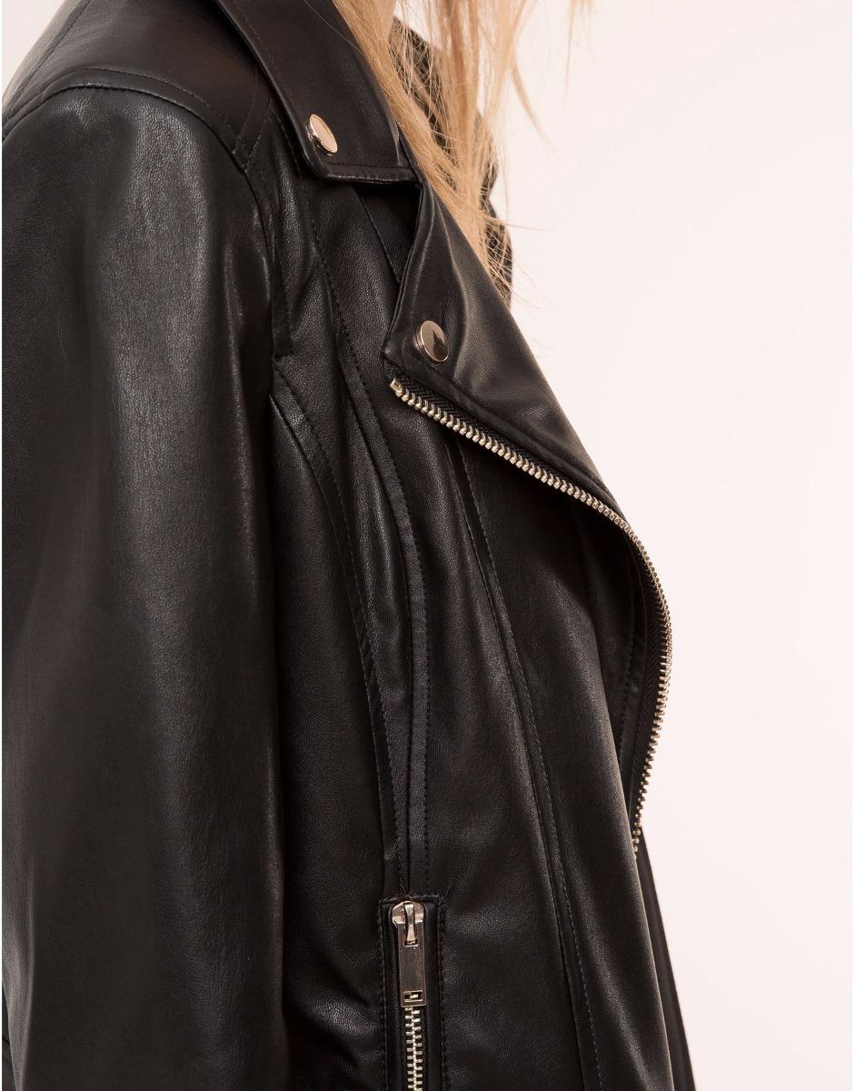 d03a4df6 clásica chaqueta cuero sintetico de alta calidad para mujer. Cargando zoom.