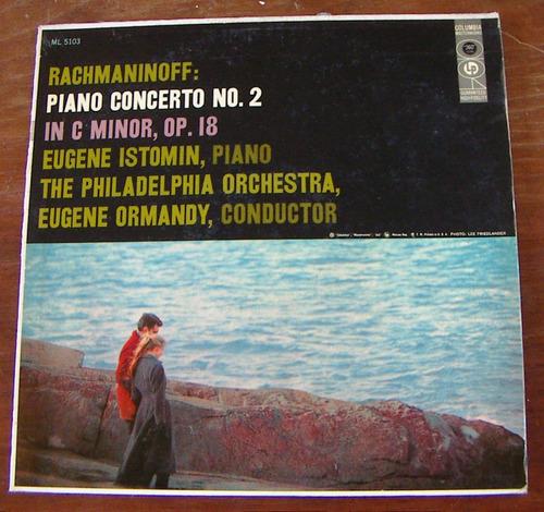 clásica, rachmaninoff, lp 12', hecho en estados unidos.