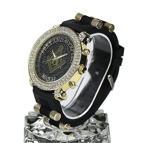 94c41eee57f6 clásico hombre reloj · reloj masónico clásico incrustaciones cristal  diamond hombre