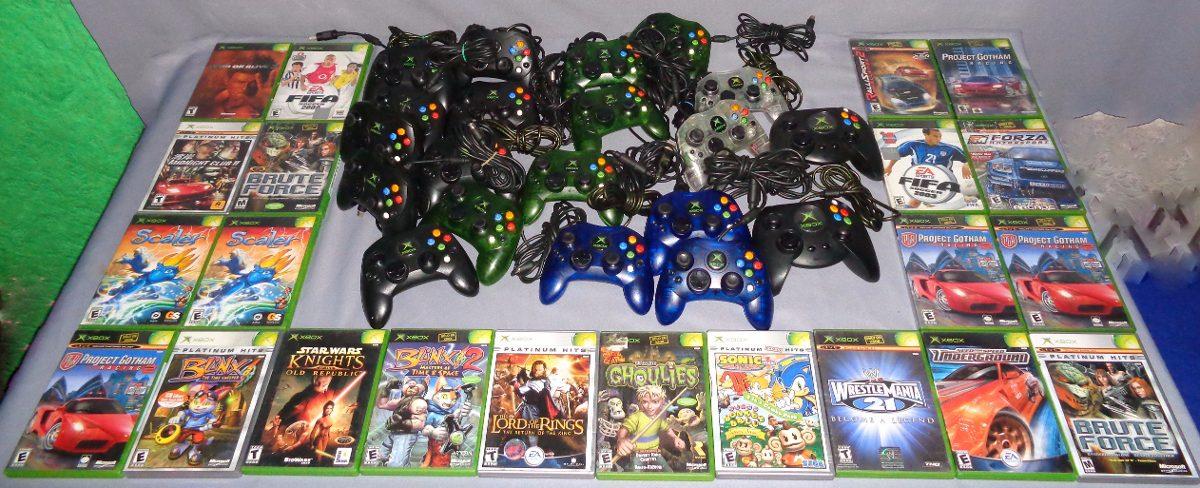 Consola Xbox Clasico Original 2 Juegos A Escoger Halo 1 Sims