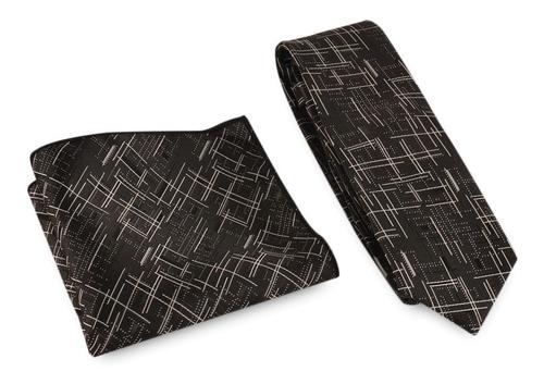 clásico líneas impresión lazos corbata de boda pañuelo set
