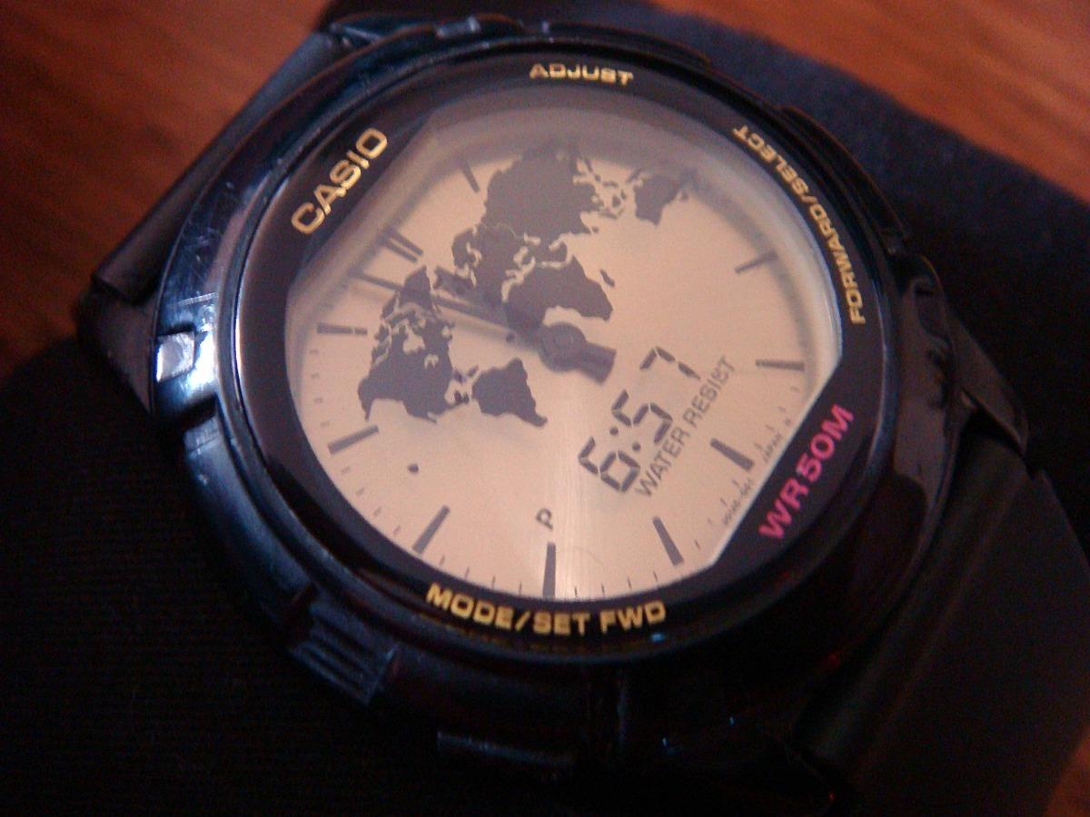 4ebfefb9e880 Clásico Reloj Casio Abx-20 Twincept. Vintage. De Colección ...