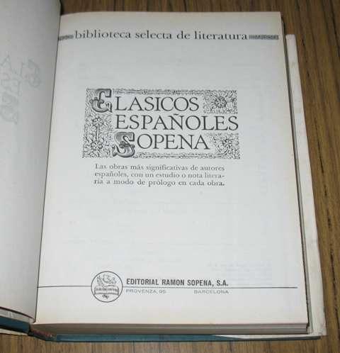 clasicos españoles sopena : 14 obras 9 autores literatura