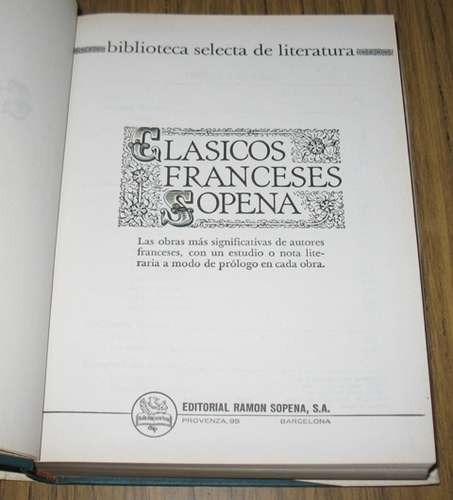 clasicos franceses sopena 11 obras 7 autores literatura