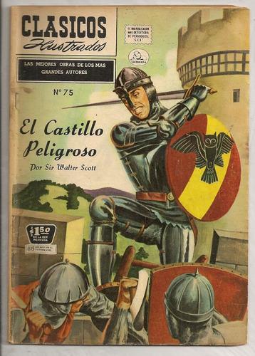 clásicos ilustrados #75 el castillo peligroso la prensa 1958