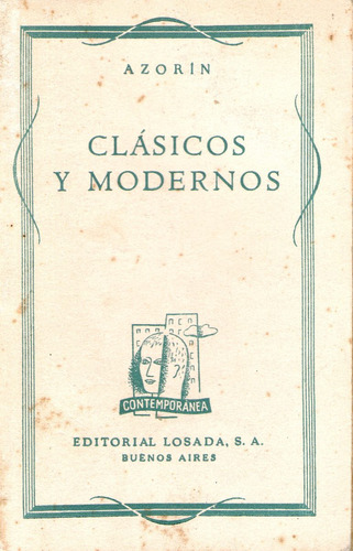 clásicos y modernos - azorín