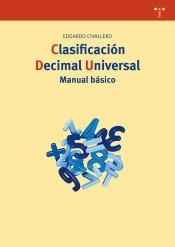 clasificación decimal universal. manual básico(libro bibliot