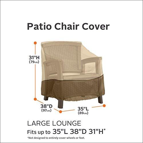 classic accessories veranda patio silla/sillón de club cubi