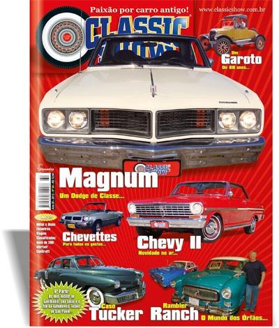 classic show ed. 60, dodge magnum, chevette, tucker, antigos