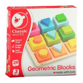 Juguete World Didactic Madera Geometricos Classic De Bloques kwPiTOXZu
