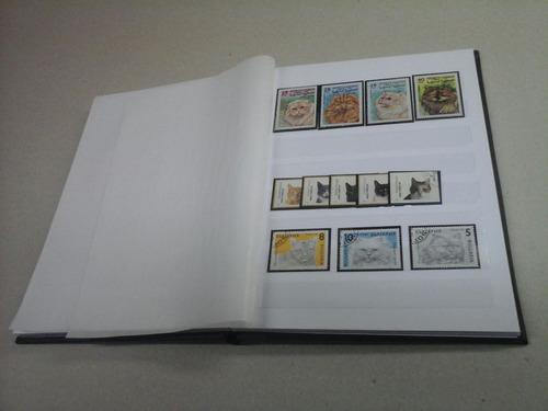 classificador minas para selos 12 pgs brancas + * brinde