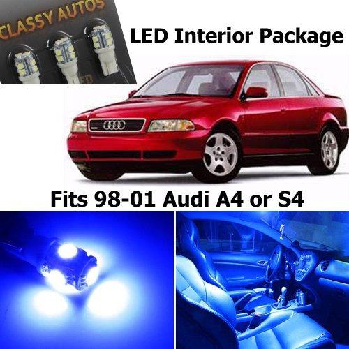 classy autos audi a s blue luces led interior paquete