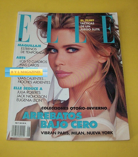 claudia schiffer eugenia leon revista elle mexico 1994