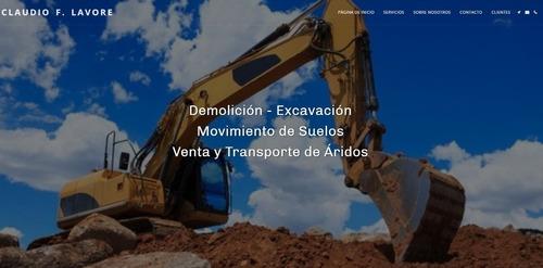 claudio f. lavore  demoliciones excavaciones mov. de suelos