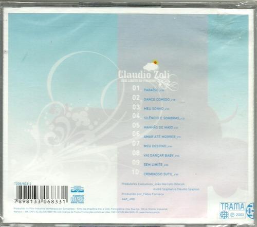 claudio zoli sem limite no paraiso cd lacrado