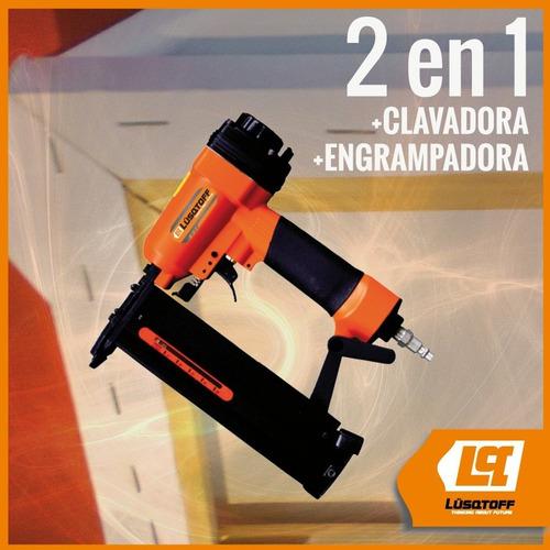 clavadora engrampadora lusqtoff 2en1 neumatica 15/50/16/40