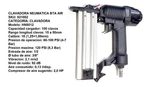 clavadora neumatica bta air clavos + 4 cajas clavos verashop