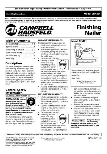clavadora neumática campbell hausfeld chn10299