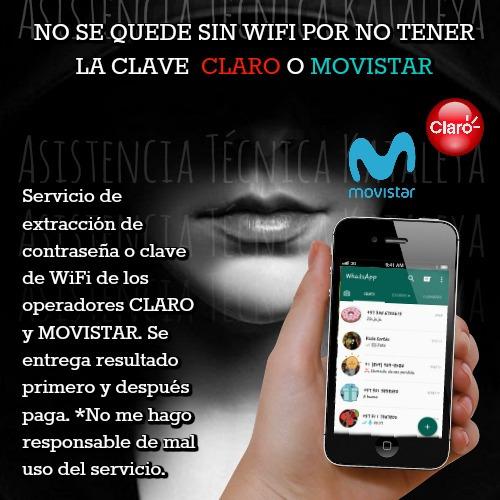 clave wifi contraseña asistencia tecnica claro y movistar