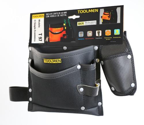 clavera cinturon portaherramientas albañil toolmen t97