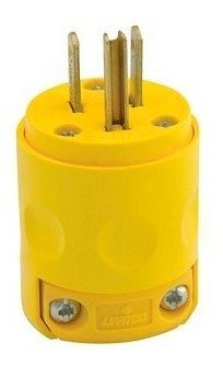 clavija aerea industrial levinton 15amp 125v amarilla ref 51