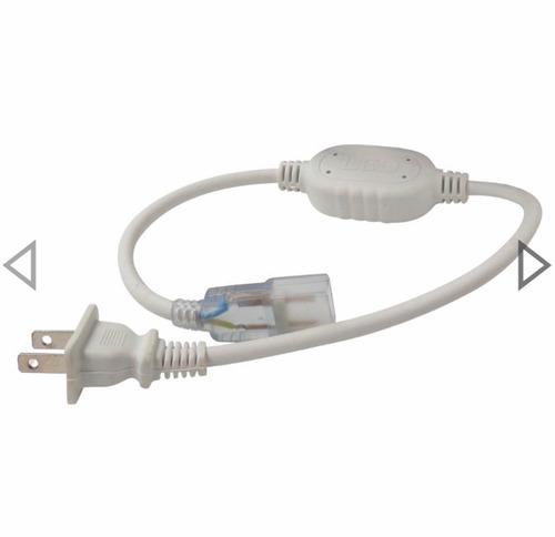 clavija para manguera led 5050 enchufe conector 127v ip65