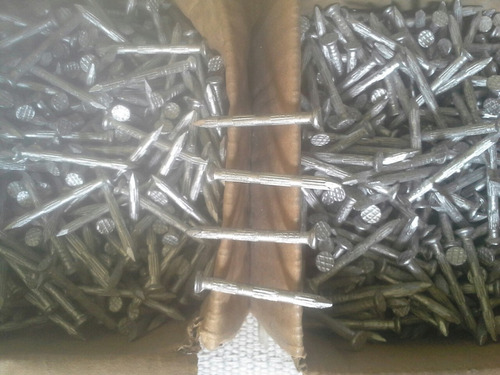 clavo de acero ranurado 2plg