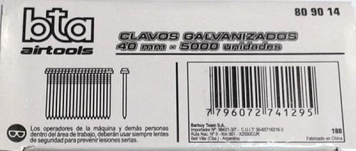 clavos para clavadora neumaticas 40mm x 5000unidades bta
