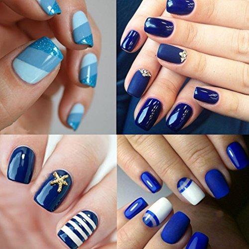 Clavuz 6pcs Set De Esmalte De Uñas De Gel De Color Azul Coll
