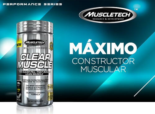 clear muscle 184 capsulas, muscletech - hmb