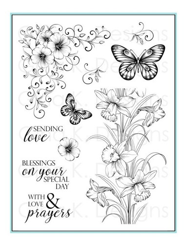 clear stamps- sending love