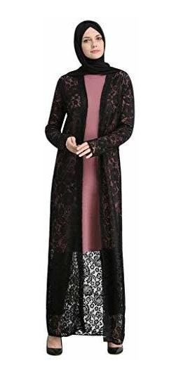 Clearancewomen Lace Open Cardigan Long Maxi Dress Muslim La