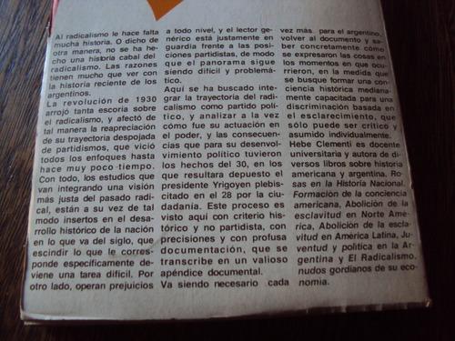 clementi radicalismo trayectoria política yrigoyen argentina