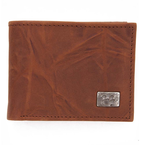 clemson bi-fold wallet